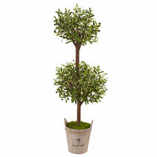 Olive Tree In Farmhouse Planter Realistic Nearly Natural 5' Home Garden Decor