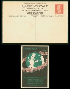 Mayfairstamps France 1925 Philatelic Exposition Paris Mint 45c Stationery CArd w