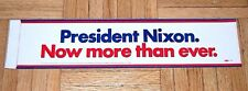 1960 RICHARD NIXON campaign BUMPER STICKER political decal presidential election