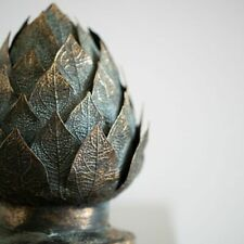 Antique Brass Decorative Metal Artichoke on Stand, Vintage Style Ornament