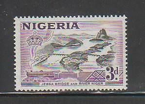 NIGERIA STAMPS 1953 LOCAL MOTIVES JEBBA BRIDGE RIVER NIGER MNH - MISC21.213