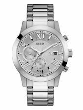 Guess Classic Men's Chronograph Quartz Silver Dial Watch - W0668G7 NEW