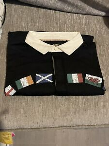 """Cotton Traders Mens Polo """"GUINNESS"""" Rugby Shirt Size L (new/unworn)"""