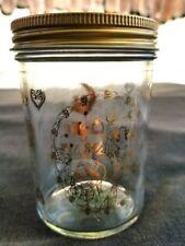 Sailor Moon Jar Glass Mason Q-Pot Cafe Rare Usagi Chibiusa Serena Gold Japan