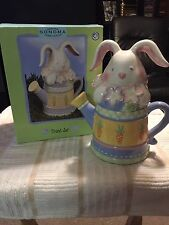 Sonoma Home Goods Easter Bunny Rabbit Watering Can Treat Jar