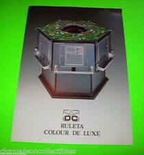 RULA COLOUR DE LUXE By OPER COIN ORIGINAL SPANISH MADE SLOT MACHINE SALES FLYER