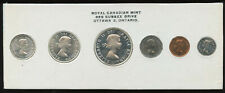 1960 Canada Uncirculated Silver Proof-Like PL Set - Black Print