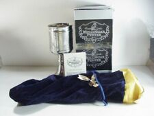 SAINT PATRICK MULLINGAR PEWTER IRISH 4-PANELED  CHALICE / GOBLET W BAG & BOX