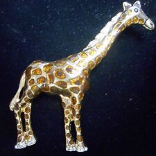 BEAUTIFUL OLD GIRAFFE PIN / BROOCH  GOLD TONE VERY NICE
