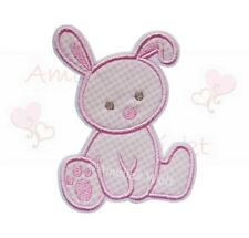 Hase rosa vichy Applikation Aufbügler Aufnäher Patch Bügelbild Sticker