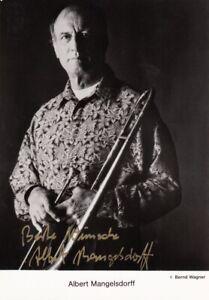 ALBERT MANGELSDORFF --- original signiert - A5#14