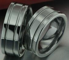 2 Ring Wedding Rings Bands Engagement Ring Wolfram Silver & Laser Engraving