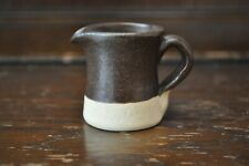 ABATY Lovely Brown Handthrown Stoneware Cream Creamer Jug - 5cm Tall