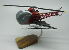 Batcopter Batman Movie Helicopter Desktop Kiln Dry Wood Model Small New