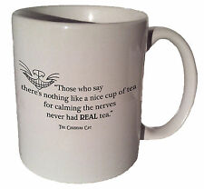 "Cheshire Cat Alice in Wonderland ""...nice cup of tea"" quote 11 oz coffee tea mug"