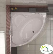 Badewanne Wanne Eckbadewanne symmetrisch Acryl 150 x 150 cm Füße Ab/Überlauf