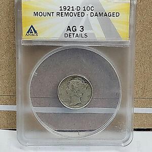1921d-AG3 Mercury Dime - Key Date