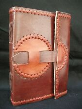 Handmade Medieval-Style Leather Diary Journal Sketchbook - Unlined Pages