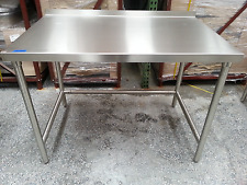 "Table , heavy duty commercial, 48x30"" stainless, Kd ship, 5003858"