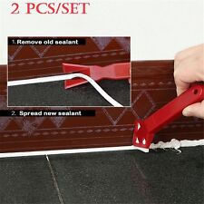 2 Pcs/set Caulking Finishing Glass Cement Scraper Sealant Grout Remover
