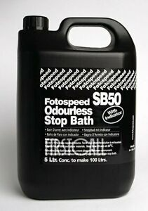 Fotospeed SB50 Odourless Stop Bath, 5 litres