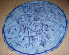 Dreamcatcher Bohemian round cotton throw Table cover cloth wall hanging Mandala