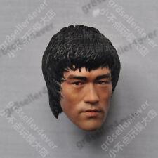 1/6 scale Bruce Lee Head Sculpt Dead of Game Enter the dragon battle fight