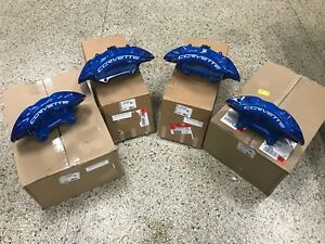 New GM OEM Brembo 2009-13 Chevy Corvette Blue ZR1 Front & Rear Brake Calipers