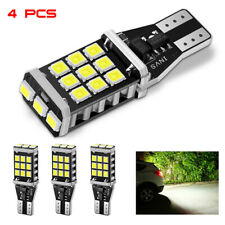 921 912 T15 LED Backup Reverse Brake Light Bulbs Canbus Error Free 6000K White