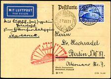 DR 1931 458 ZEPPELIN POLARFAHRT auf KARTE 430€(S7706