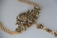 Gold Rhinestone Anklet, Hand Chain, Foot Chain, Accessory
