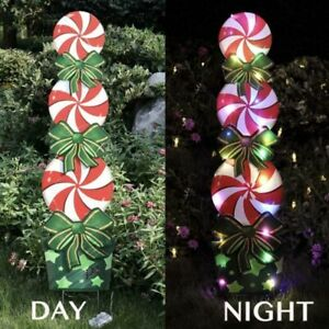 Lollipop Candy Cane Christmas With Light Holiday Decor Outdoor Peppermint Xmas