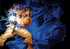 POSTER A4 PLASTIFIE-LAMINATED(1 FREE/1 GRATUIT)* JEUX VIDEO STREET FIGHTER.RYU 2