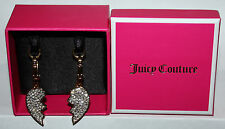 Set of 2 Juicy Couture Gold Crystal Broken Heart Best Friends Charms JYRU7603 **