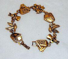 TOFA Magic Themed Charm Bracelet ~ Classic Gold Tone  #5430260