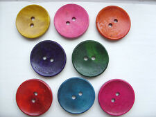 50 pcs  Painted Wood  Scrapbooking // Sewing Buttons   15mm