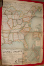 "Carte USA ""New Commercial Map of the United States and Adjacent Territory"", 1925"