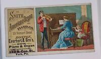 Advertising Victorian Trade Card Smith American Organ Piano Co York PA