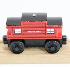 2002 Thomas & Friends Wooden Railway Red Sodor Line Caboose Brake Car