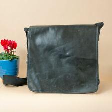 90's Y2K Vintage Marc O'Polo Black Faux Leather Shoulder Man Bag Messenger