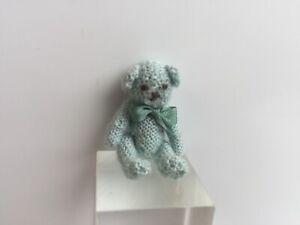 YVONNE HUNT ARTISAN HAND MADE TINY TEDDY BEAR DOLLS HOUSE DOLLHOUSE TOY SHOP
