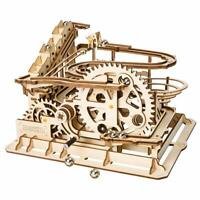 Hands Craft 3D Wooden Puzzle Model Mechanical Self Building  Kit- Waterwheel