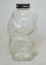 VINTAGE Grapette Soda CAT Glass Bottle Bank with Metal Lid EXCELLENT Coin Slot