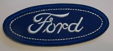 """Ford Motors Emblem Patch~Car Truck Auto~3 1/2"""" x 1 1/2""""~Embroidered~Iron Sew On"""