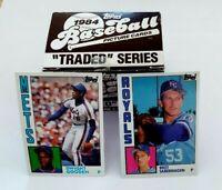 1984 Topps Traded Set 1-132 Saberhagen Gooden RC Rookie Super Sharp PSA 10 ?