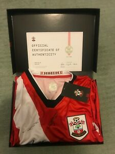 Southampton FC Signed 20/21 Home Shirt. Presentation Box and COA included