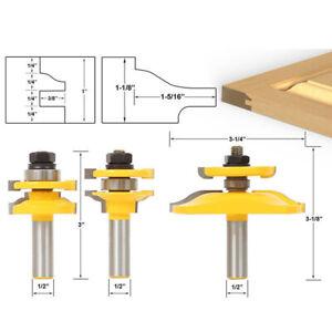 "1/2"" Shank Raised Panel Cabinet Door Router Bit Woodwork Milling Cutter Set"