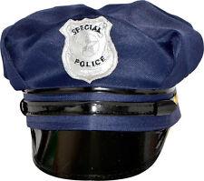 CASQUETTE DEGUISEMENT SPECIAL POLICE AMERICAINE BLEUE 100%  POLYESTER 58/59 CM