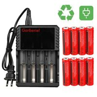 3.7V 3000mAh Li-ion Rechargeable 18650 Battery For LED Flashlight Torch Lamp Red