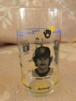 McDonald's Milwaukee Brewers Glass Robin Yount Ben Oglivie Vintage 80s